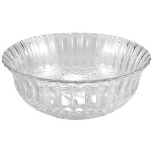 "6 NEW 8"" glass serving bowls, decorative"